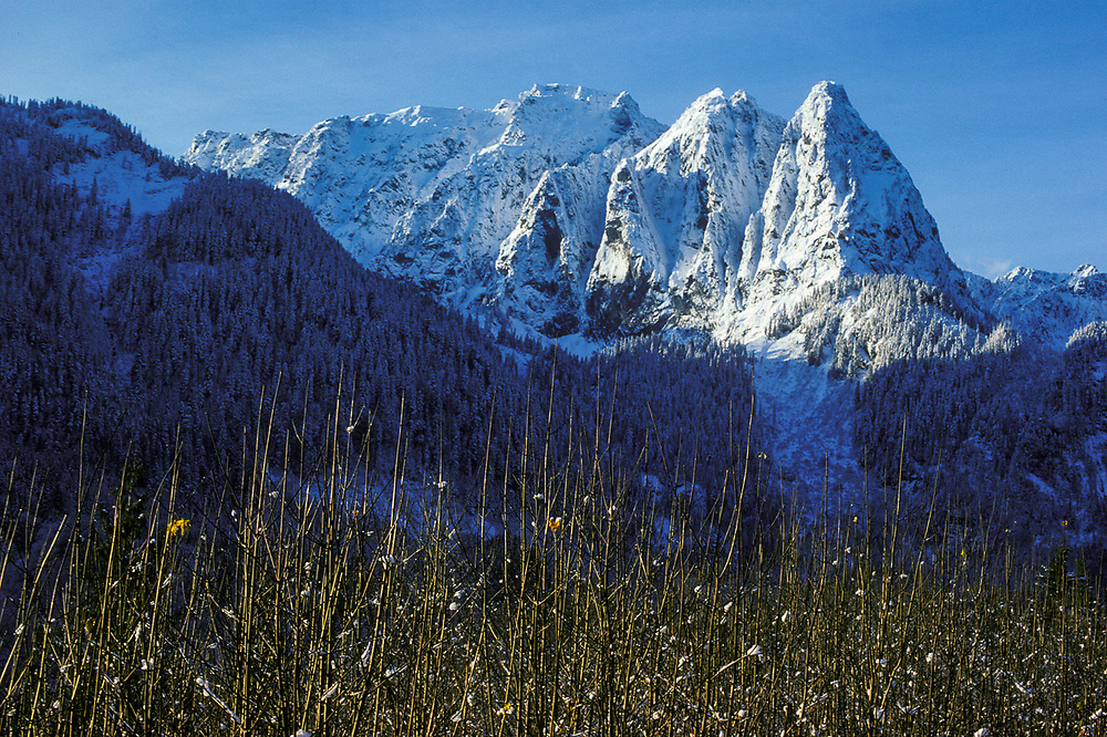 Mount Shuksan, Alpine Lakes Wilderness, winter, Washington, USA