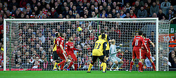 26.11.2011, Anfield Stadion, Liverpool, ENG, PL, FC Liverpool vs Blackburn Rovers, 18. Spieltag, im Bild Liverpool's goalkeeper Jose Reina is beaten for the opening goal against Blackburn Rovers during the football match of English premier league, 18th round, between FC Liverpool and Blackburn Roversat Anfield Stadium, Liverpool, United Kingdom on 2011/12/26. EXPA Pictures © 2011, PhotoCredit: EXPA/ Propagandaphoto/ David Rawcliff..***** ATTENTION - OUT OF ENG, GBR, UK *****