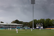 Rain calls a halt to the season at Grace Rd during the Specsavers County Champ Div 2 match between Leicestershire County Cricket Club and Lancashire County Cricket Club at the Fischer County Ground, Grace Road, Leicester, United Kingdom on 26 September 2019.