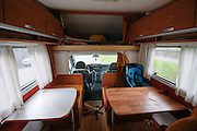 interior of a mobile motor home