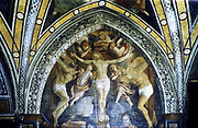 Crucifixion.  Gaudenzio Ferrari (1470-1546). Church of St Mary of the Graces, Milan.
