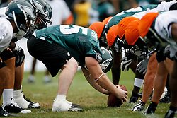 Bethlehem, PA - August 2nd 2008 - Eagles Special Teams prepare for a play  during the Philadelphia Eagles Training Camp at Lehigh University (Photo by Brian Garfinkel)