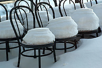 Lonely Chairs in the Snow. Winter in Harstad, Norway. Image taken with a Nikon D2xs camera and 85 mm f/1.4D lens (ISO 200, 85 mm, f/4, 1/60 sec)