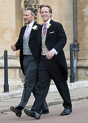 May 18, 2019 - Windsor, United Kingdom - Image licensed to i-Images Picture Agency. 18/05/2019. Windsor , United Kingdom. Thomas Kingston (right) arriving for his wedding to Lady Gabriella Windsor at St.George's Chapel, Windsor, United Kingdom. (Credit Image: © Stephen Lock/i-Images via ZUMA Press)