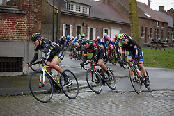Lisa Brennauer (CANYON//SRAM Racing) & Christine Majerus (Boels Dolmans) are happy to let the break go as they both have teammates in the escape at the 112.8 km Le Samyn des Dames on March 1st 2017, from Quaregnon to Dour, Belgium. (Photo by Sean Robinson/Velofocus)