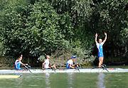 Ottensheim, AUSTRIA.  A  Final,  LM4X, at the 2008 FISA Senior and Junior Rowing Championships,  Linz/Ottensheim. Sunday,  27/07/2008.  [Mandatory Credit: Peter SPURRIER, Intersport Images] Rowing Course: Linz/ Ottensheim, Austria