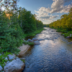 The Ammonoosuc River in New Hampshire's White Mountains. Bethlehem, New Hampshire. HDR.