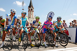 Jani Brajkovic of Astana, Kristjan Koren of Liquias, Bole Grega of Lampre-ISD and Borut Bozic of Astana during Slovenian National Championship Mirna Pec 2012, on June 24, 2012, in Mirna Pec, Slovenia. (Photo by Urban Urbanc / Sportida.com)