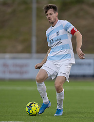 Nikolaj Hansen (FC Helsingør) under kampen i 1. Division mellem FC Helsingør og Silkeborg IF den 11. september 2020 på Helsingør Stadion (Foto: Claus Birch).