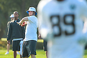 January 28 2016: Oakland Raiders quarterback Derek Carr during the Pro Bowl practice at Turtle Bay Resort on North Shore Oahu, HI. (Photo by Aric Becker/Icon Sportswire)