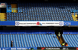 General view from inside the ground before the Premier League match at Stamford Bridge, London.