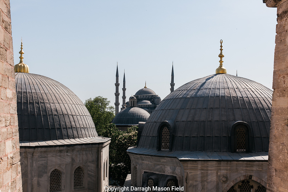 The Blue mosque from the window of Hagia Sophia