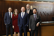 SHOT 1/8/19 12:11:02 PM - Bachus & Schanker LLC lawyers James Olsen, Maaren Johnson, J. Kyle Bachus, Darin Schanker and Andrew Quisenberry in their downtown Denver, Co. offices. The law firm specializes in car accidents, personal injury cases, consumer rights, class action suits and much more. (Photo by Marc Piscotty / © 2018)