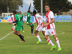 Ajax Cape Town striker Sedwyn George in a friendly game v NFD club Cape Town All Stars at Ikamva on August 10, 2017 in Cape Town, South Africa.