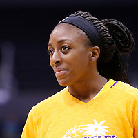 15 August 2014: Los Angeles Sparks forward Nneka Ogwumike (30) warms up prior to the Los Angeles Sparks 77-65 victory over the Seattle Storm, at the Staples Center, Los Angeles, California, USA.