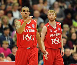 Bristol Academy Flyers' Doug McLaughlin-Williams - Photo mandatory by-line: Dougie Allward/JMP - Mobile: 07966 386802 - 11/10/2014 - SPORT - Basketball - Bristol - Wise Campus - Bristol Flyers v Plymouth Raiders - British Basketball Cup