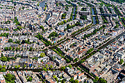 Nederland, Noord-Holland, Amsterdam, 29-06-2018; Binnenstad met Leidsegracht, gezien vanaf Prinsengracht. Grachten en grachtengordel.<br /> City centre, canals.<br /> luchtfoto (toeslag op standard tarieven);<br /> aerial photo (additional fee required);<br /> copyright foto/photo Siebe Swart