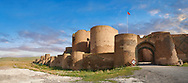 Ruins of the Armenian City walls built by  King Smbat (977–989) of Ani archaelogical site on the Ancient Silk Road ,Turkey .<br /> <br /> If you prefer to buy from our ALAMY PHOTO LIBRARY  Collection visit : https://www.alamy.com/portfolio/paul-williams-funkystock/ani-turkey.html<br /> <br /> Visit our TURKEY PHOTO COLLECTIONS for more photos to download or buy as wall art prints https://funkystock.photoshelter.com/gallery-collection/3f-Pictures-of-Turkey-Turkey-Photos-Images-Fotos/C0000U.hJWkZxAbg