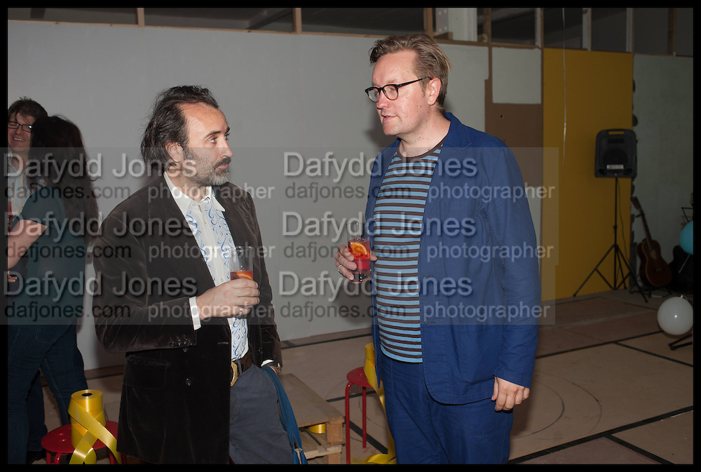 MIKE NELSON; OSSIAN WARD, Matt's Gallery 35th birthday fundraising supper.  42-44 Copperfield Road, London E3 4RR. 12 June 2014.
