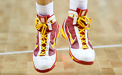 Shoes of Pau Gasol of Spain during the EuroBasket 2009 Final match between Spain and Serbia, on September 20, 2009, in Arena Spodek, Katowice, Poland.   (Photo by Vid Ponikvar / Sportida)