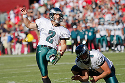 12 Oct 2008: Philadelphia Eagles PK David Akers #2 kicks a successful extra point during the game against the San Francisco 49ers on October 12th, 2008. The Eagles won 40-26 at Candlestick Park in San Francisco, California. (Photo by Brian Garfinkel) (Photo by Brian Garfinkel)