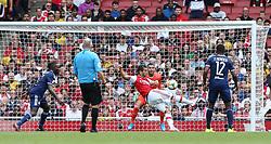 Henrikh Mkhitaryan of Arsenal shoots - Mandatory by-line: Arron Gent/JMP - 28/07/2019 - FOOTBALL - Emirates Stadium - London, England - Arsenal v Olympique Lyonnais - Emirates Cup