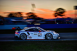 March 14, 2019 - Sebring, Etats Unis - 912 PORSCHE GT TEAM (DEU) PORSCHE 911 RSR GTLM EARL BAMBER (NZL) LAURENS VANTHOOR (BEL) MATHIEU JAMINET  (Credit Image: © Panoramic via ZUMA Press)