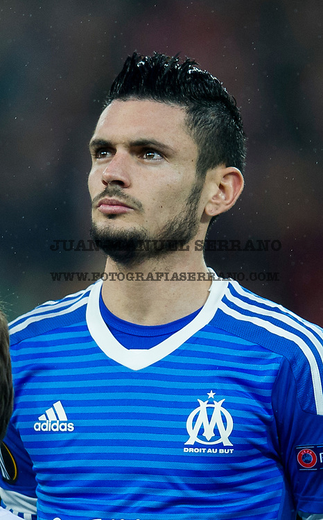 BILBAO, SPAIN - FEBRUARY 25: Remy Cabella of Marseille reacts during the UEFA Europa League Round of 32: Second Leg match between Athletic Club and Marseille at San Mames Stadium on February 25, 2016 in Bilbao, Spain.  (Photo by Juan Manuel Serrano Arce/Getty Images)