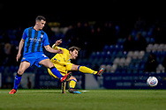 Gillingham FC midfielder Callum Reilly (13) and Bristol Rovers midfielder Ed Upson (6) during the EFL Sky Bet League 1 match between Gillingham and Bristol Rovers at the MEMS Priestfield Stadium, Gillingham, England on 12 March 2019.