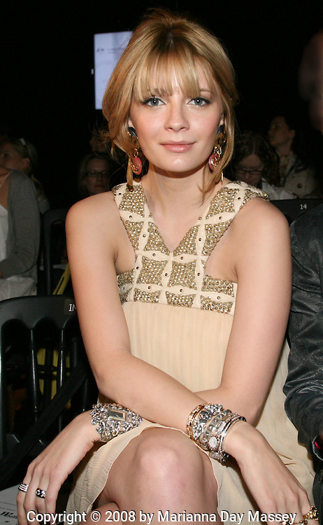 Apr 28, 2008 - Sydney, Australia - Actress MISCHA BARTON attending the first day of the Spring/Summer collections at Rosemount Australian Fashion Week in Sydney. (Credit Image: © Marianna Day Massey/ZUMA Press)