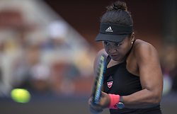 BEIJING, Oct. 6, 2018  Naomi Osaka of Japan hits a return during the women's singles semifinal match against Anastasija Sevastova of Latvia at 2018 China Open tennis tournament in Beijing, capital of China, Oct. 6, 2018. Naomi Osaka lost 0-2. (Credit Image: © Fei Maohua/Xinhua via ZUMA Wire)