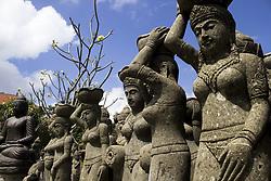 June 16, 2017 - Bali, Indonesia - A view of stone carving for sale at Banjar Seraya in Gianyar, Bali, Indonesia, on June 16, 2017. (Credit Image: © Muhammad Fauzy/NurPhoto via ZUMA Press)