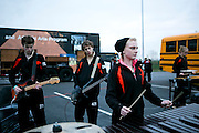 Shadow Armada Indoor Percussion competes at the Winter Guard International (WGI) finals competition in Dayton, Ohio on April 19, 2013.