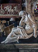 Fragment nagrobka Kajetana Sołtyka w Kaplicy Świętokrzyskiej w katedrze na Wawelu, Kraków, Polska<br /> Fragment of the gravestone of Kajetan Sołtyk, Holy Cross Chapel in the Wawel Cathedral, Cracow, Poland