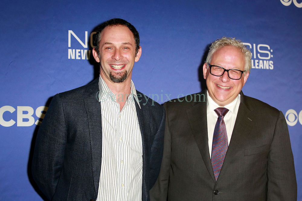 17 September 2014. New Orleans, Louisiana.<br /> NCIS New Orleans. CBS Red carpet event at the WW2 Museum.<br /> L/R; Jeffrey Lieber and Gary Glasberg, . executive producers.<br /> Photo Credit; Charlie Varley/varleypix.com