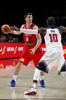 United States´s Irving (R) and Serbia´s Markovic during FIBA Basketball World Cup Spain 2014 final match between United States and Serbia at `Palacio de los deportes´ stadium in Madrid, Spain. September 14, 2014. (ALTERPHOTOSVictor Blanco)