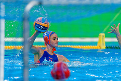 Brigitte Sleeking #12 of Netherlands during the semi final Netherlands vs Russia on LEN European Aquatics Waterpolo January 23, 2020 in Duna Arena in Budapest, Hungary