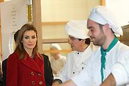 022514 Princess Letizia visits Labour University of Albacete and factory knives Arcos