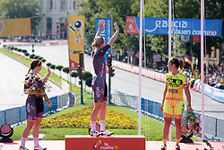 Waving to the crowds from the podium at Madrid Challenge by La Vuelta an 87km road race in Madrid, Spain on 11th September 2016.