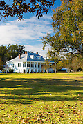 St Joseph plantation 19th Century antebellum mansion house along the Mississippi at Vacherie, Louisiana, USA