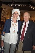 EMMA KITCHENER-FELLOWES; JULIAN FELLOWES, The LAPADA Art & Antiques Fair - private view, Berkeley Sq. London. 12  September 2016