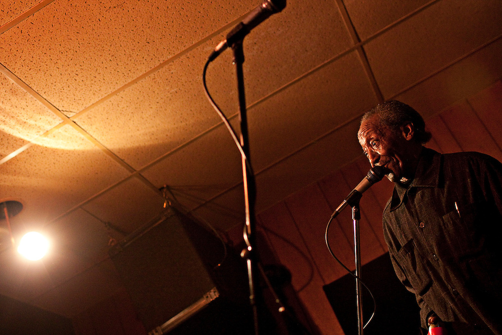 Willie 'Big Eyes' Smith, who has been nominated for a 2010 Grammy, performs at Harlem Avebue Lounge in Berwyn, Illinois; Saturday, January 15, 2011