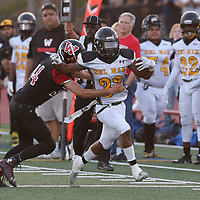 Del Mar #33 Michael Graham III vs Westmont in a BVAL Football Game at Westmont High School, Campbell CA on 9/7/18. (Photograph by Bill Gerth)(Del Mar 35 Westmont 3)rx