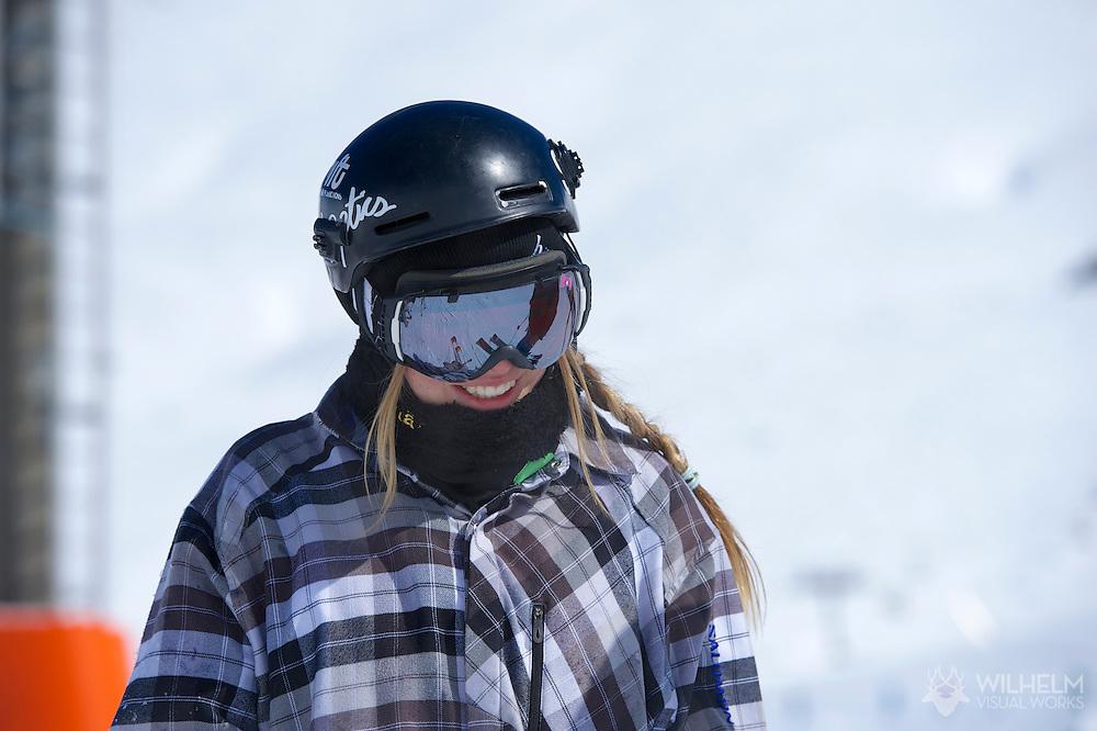 Lisa Zimmerman during  Ski Slopestyle Practice at the 2013 X Games Tignes in Tignes, France. ©Brett Wilhelm/ESPN