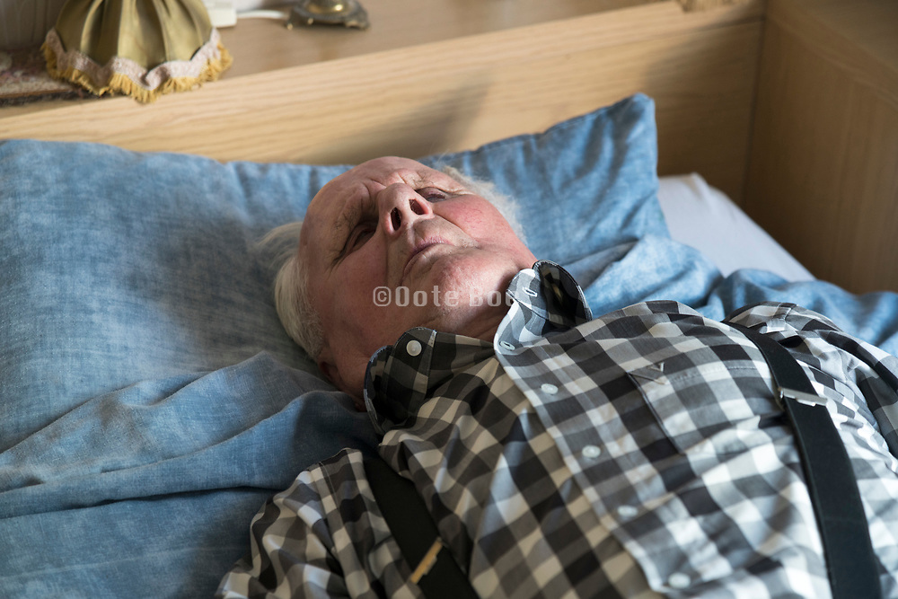 94 years old man making a nap