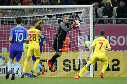 (L-R) Davy Propper of Holland, Florin Tanase of Romania, Daley Blind of Holland, goalkeeper Jasper Cillessen of Holland, Alexandru Chipciu of Romania during the friendly match between Romania and The Netherlands on November 14, 2017 at Arena National in Bucharest, Romania