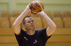 Uros Slokar during practice session of Slovenian National Basketball team during training camp for Eurobasket Lithuania 2011, on July 12, 2011, in Arena Vitranc, Kranjska Gora, Slovenia. (Photo by Vid Ponikvar / Sportida)