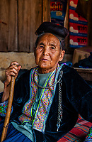 90 year old woman, Hmong tribe village, Mae Rim District, Highlands near Chiang Mai, Northern ThailandChiang Mai, Northern Thailand