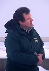 Peter Frenzen, Monument Scientist, Mt. St. Helens National Volcanic Monument, Washington, US, December 2004