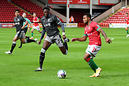 Dominic Iorfa of Sheffield Wednesday and Wes McDonald of Walsall during the EFL Cup match between Walsall and Sheffield Wednesday at the Banks's Stadium, Walsall, England on 5 September 2020.